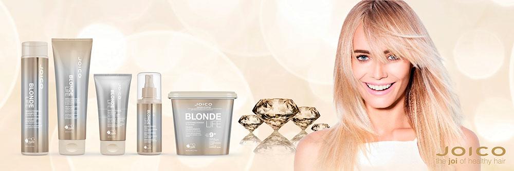Joico Blonde Life vaalennetuille hiuksille - Parturi-kampaamo Salon Hot Hair, Espoo, Tapiola